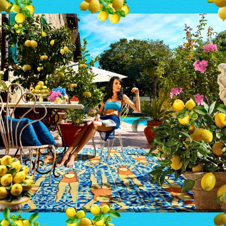 Sitap Carpet Couture Italia, Vogue in Capri, Moda, #SitapEstateItaliana, Tappeto, Design, Carol