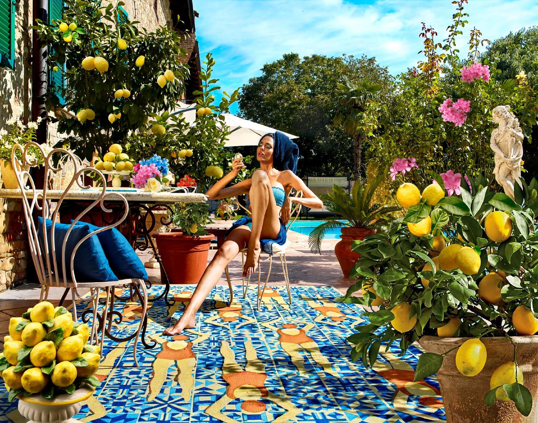 Sitap Carpet Couture Italia, Vogue in Capri, Fashion, #SitapEstateItaliana, Rug, Design, Carol