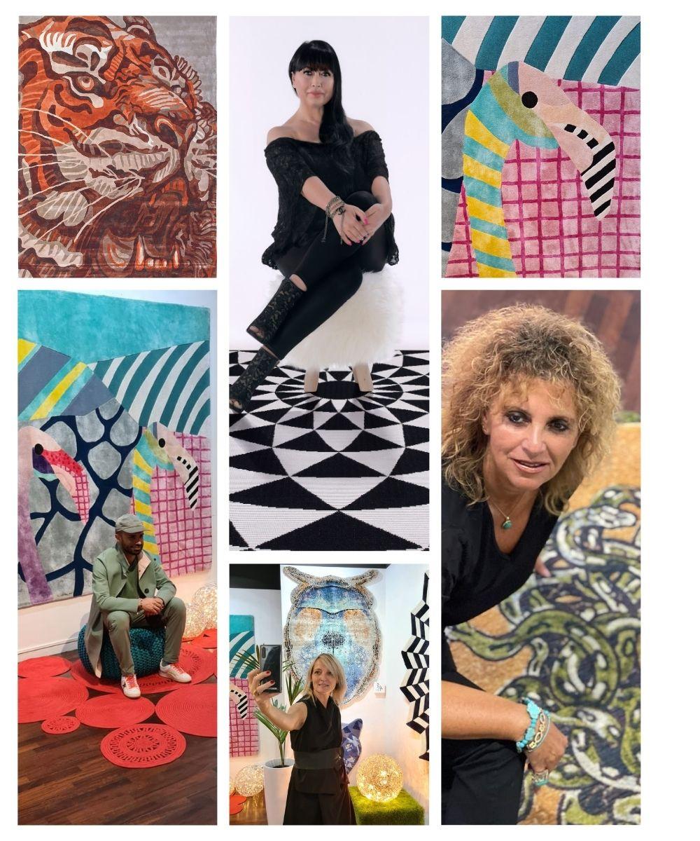 Sitap Carpet Couture Italia, Sitap in Brera 2022 rug preview, Alyssa, Art, Milano, Fuorisalone, Design, Haute Couture, Officina del Design
